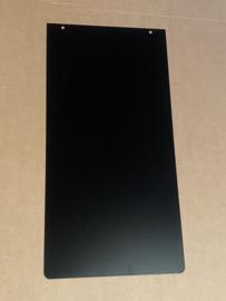 Vloerplaat rechthoek zwart staal 45 x 90 - maatwerk