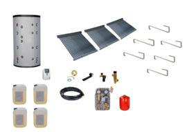 Doe het zelf - 800L Buffertank - 3 x 30 heatpipes 6.84 m2 - cv ondersteuning en tapwater