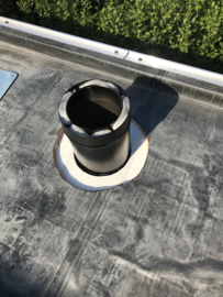 Installatie pakket plat dak 180mm - alles dubbelwandig