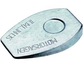 aluminium motorzaag wig 26x140x100 - 510 gram