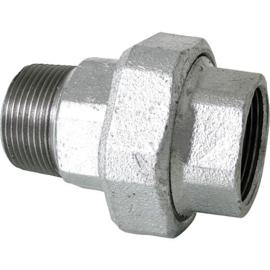 staal 3-delige draad fittingen recht bi x bu