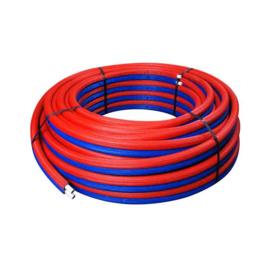 Duo pex cv buis 2 x 16x2 blauw en rood