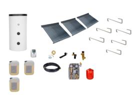 Doe het zelf - 500L boiler - 3 x 30 heatpipes  6.84 m2