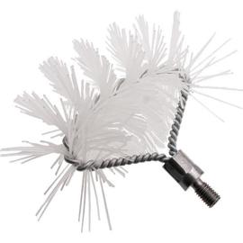 Borstel nylon half rond M10