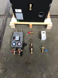 Aansluit set 2 - cv-kachel met gesloten koeling - 5 aansluitingen