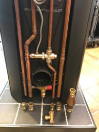 Aansluit set 3 - cv-kachel met gesloten koeling - 5 aansluitingen