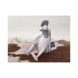 Kip Golek | Grijs wit houten kippenbeeldje | Varios