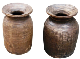 Himachal boterpot | Houten vaas | Otentic Design