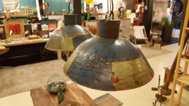 Hanglamp verfblik blauw/groen Large