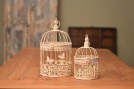 Decoratieve ronde vogelkooitjes Wit en Zwart