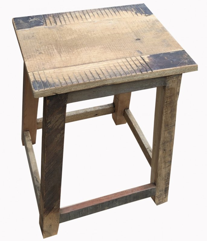Houten kruk Naturel Scrapwood 50cm | Otentic Design