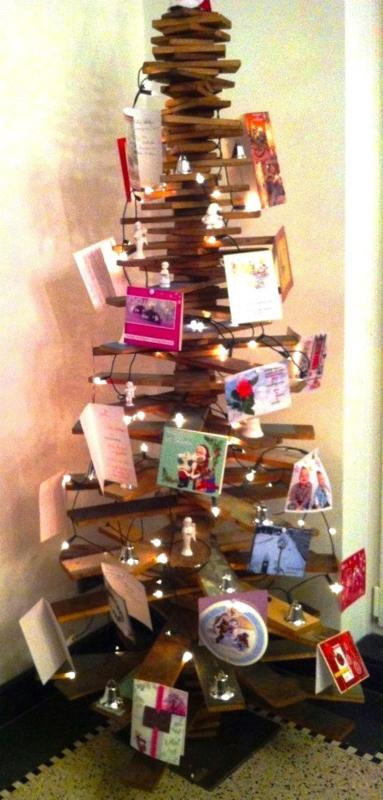 Scrapwood kerstboom medium