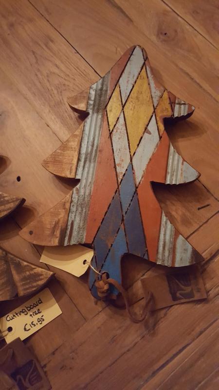 Snijplank kerstboom sloophout 37x25cm