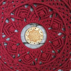Macrame mandala detail