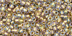 Rocailles 11/0 Inside-Color Crystal Gold Lined