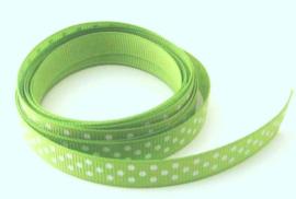 Groen met witte stippen