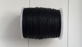 1 mm Zwart Katoenkoord