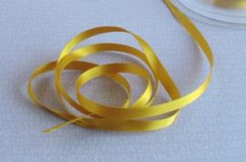 Satijn lint 7 mm GoudGeel