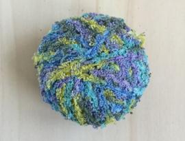 Badstof look  garen Blauw - Paars - Groen