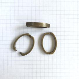 Clip Ovaal  23 mm Oud goud