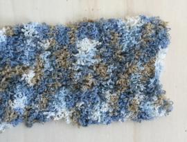 Badstof look Blauw - Blauw - Blauw (10 bollen)