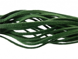 Suede veter Donker Groen