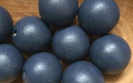 Houten kraal Blauw 20 mm