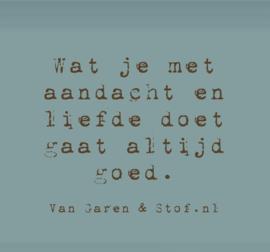 Quote van Garen en Stof