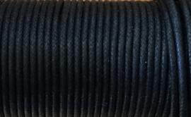 2 mm Zwart Katoenkoord