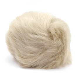 Pompom Faux beige brown