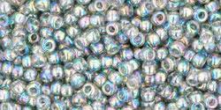 Rocailles 11/0 Trans-Rainbow Black Diamond