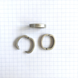 Clip Vierkant  15 mm Zilver Kleur