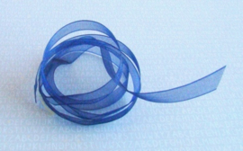 Organzalint  Blauw 6 mm