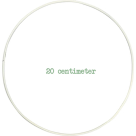 Draadring 20 cm Wit
