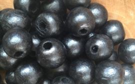 Kraal hout Zwart 12 mm