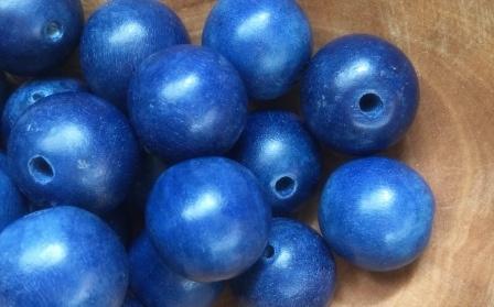 Kraal Hout Blauw 15 mm