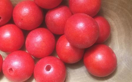 Kraal Hout Rood 15 mm