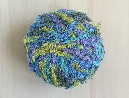 Badstof look  garen Blauw - Paars - Groen (10 bollen)