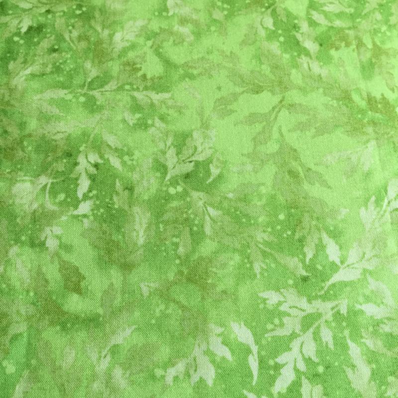Fris groen met blaadjes