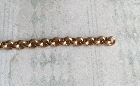Jasseronketting goudkleur 7 mm