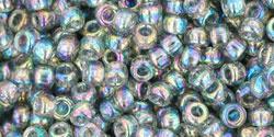 Rocailles 8/0 Rainbow Black Diamond