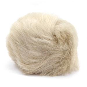 Pompom Faux beige brown