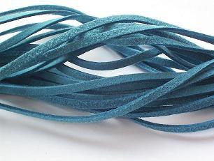 Suede veter Jeans Blauw
