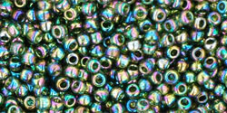 Rocailles 11/0 Trans-Rainbow Olivine