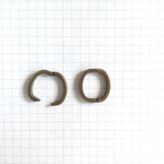 Clip Vierkant  15 mm Oud goud kleur