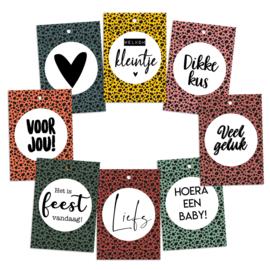 Cadeaukaartjes kleur  per 5 sets