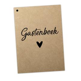 Gastenboek invulkaarten 25st. - Kraft