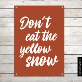 Tuinposter XL yellow snow roestkleur per 2 stuks