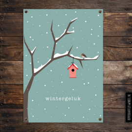 Tuinposter XL 'wintergeluk' per 2 stuks