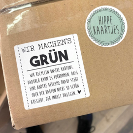 "Stickers ""Recylce"" Duits 100 stuks"